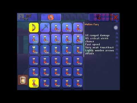 Terraria iOS: A Way To Kill The Dungeon Guardian w/ Love (aka Heart Arrows)