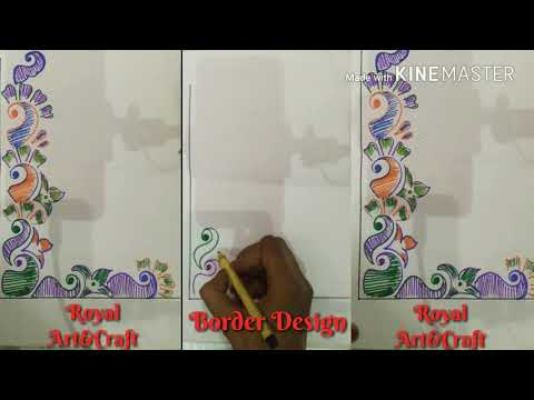 Quick easy art border designs for projects    Corner design for project work    Border design #20