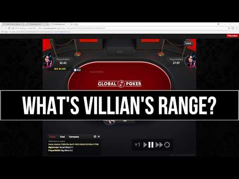 What's Villain's Range? Global Poker 20nl Craziness!!!