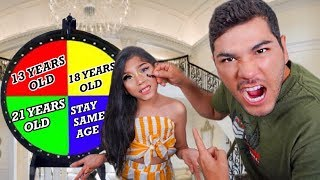 Spin the MYSTERY WHEEL & Turn WHATEVER AGE It Lands On!! | Familia Diamond