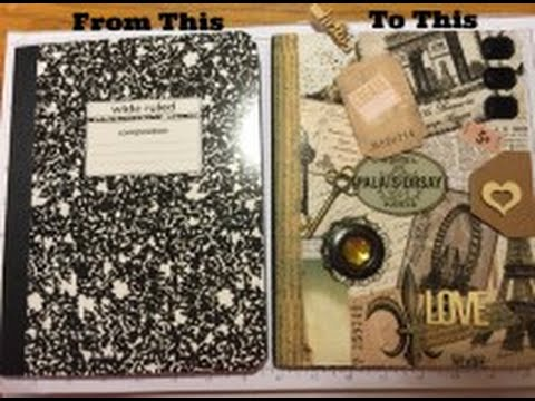 Altered Composition Book Tutorial DIY