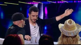 Andrei Crăciun, mentalism cu Cheloo. Rapperul l-a strâns de mână până l-a înroșit!