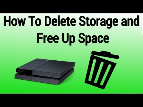 HOW TO DELETE STORAGE AND FREE UP SPACE ON THE PS4