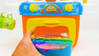 Toddlers के लिए खिलौना लर्निंग वीडियो - आकार, रंग, खाद्य नाम जानें, जन्मदिन केक के साथ गिनती!