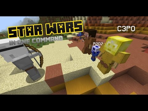 Star Wars in Minecraft (One Command)
