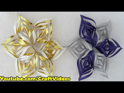 How to make a Paper Snowflake | 3D Snowflake DIY Tutorial
