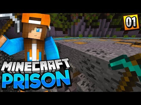 FIRST TIME PLAYING PRISON! - Minecraft Prisons EP.1 (Pocket WIN 10 Edition)