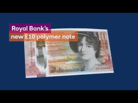 The Royal Bank of Scotland Polymer £10 note