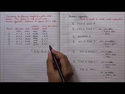 Banker's algorithm for deadlock avoidance | An example.
