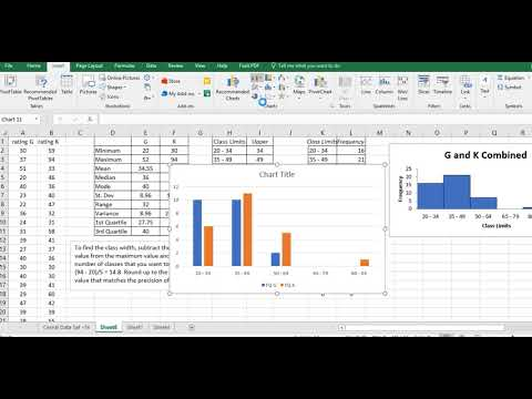 Create a double bar histogram in Excel