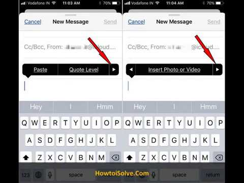 Use Markup to Insert Drawing in Mail Body in iOS 11 on iPhone, iPad