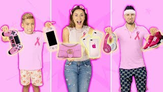 Buying & Eating ONLY PINK For 24 Hours!! *CHALLENGE* | The Royalty Family