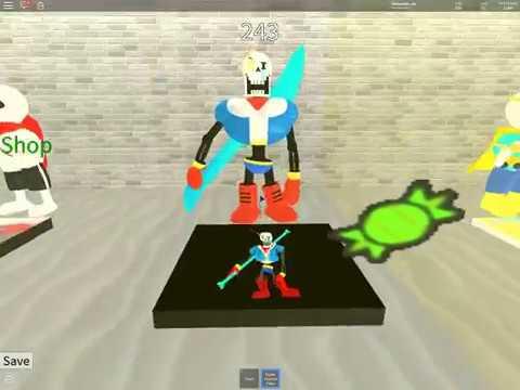 Roblox Undertale Survive the Monsters!(disbelief papyrus