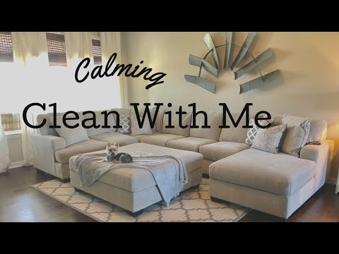 CLEAN WITH ME | CALMING & RELAXING | SICK DAY