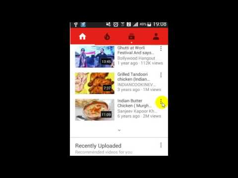 How to create a new playlist in Youtube android app