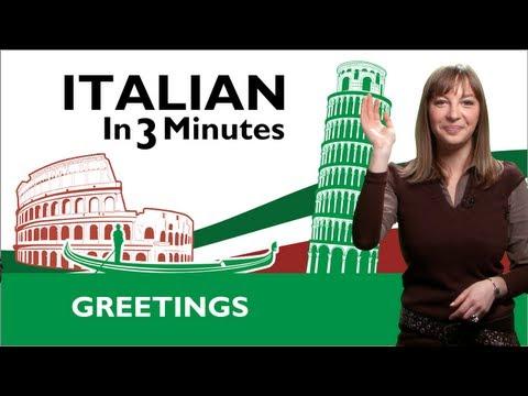 Learn Italian - Italian Greetings