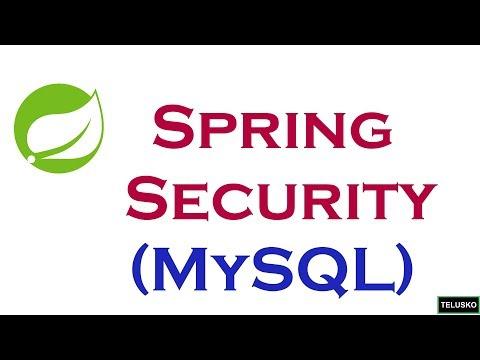 Spring Security   MySQL part 4