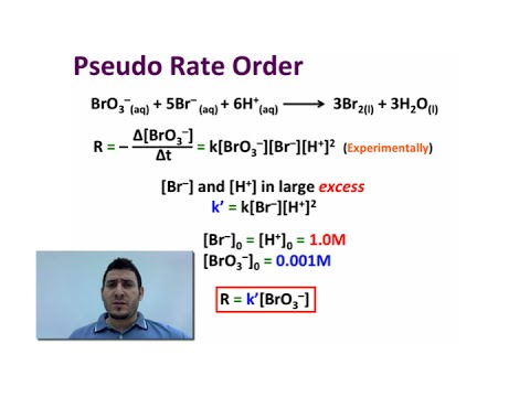 Chemical Kinetics | Pseudo Rate Order.