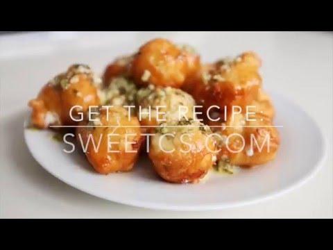 Fried Garlic Cheese Bombs