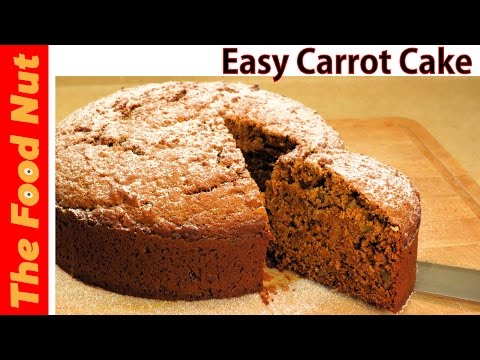 Homemade Carrot Cake Recipe From Scratch ( Easy - No Icing ) Made With Carrot Pulp | The Food Nut