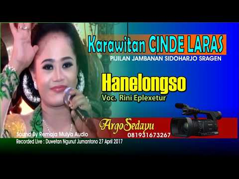 Lirik Lagu HANELONGSO Sragenan Karawitan Campursari - AnekaNews.net