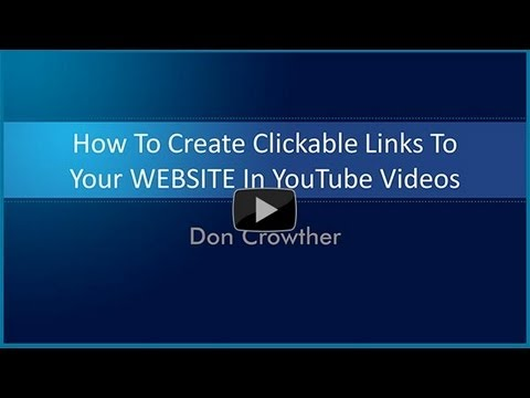 How To Create Clickable Links To YOUR Website In YouTube