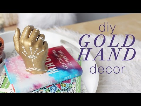 DIY GOLD HAND DECOR | THE SORRY GIRLS