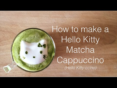 How to make a Hello Kitty Matcha Cappuccino