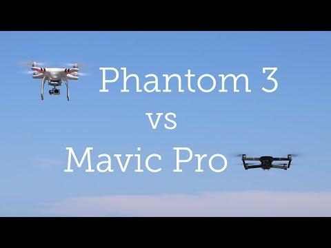 DJI Mavic Pro vs Phantom 3 Standard