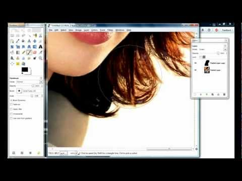 Gimp - How to CUT OUT HAIR in less than 5 minutes / REMOVE BACKGROUND