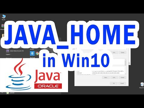 How to setup JAVA environment variable in Windows 10