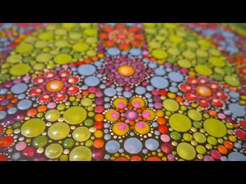 How to paint dot mandalas with Kristin Uhrig #39- Flower Power