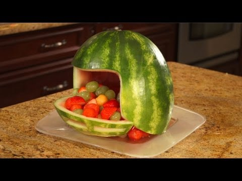 How To Carve A Watermelon Football Helmet