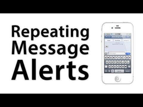 [iOS Advice] How To Add Or Disable Repeating Message Alerts