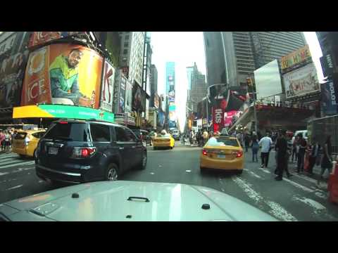 Driving around Manhattan, Times Square and Queens NYC