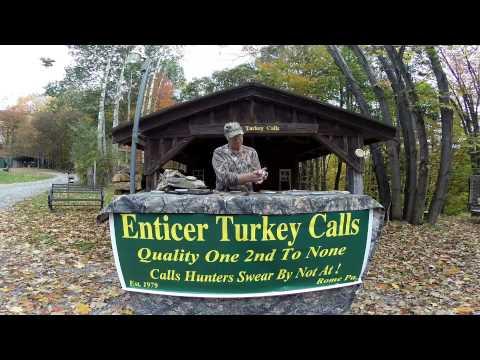Enticer Turkey Calls - Demo Wet Wonder Calls