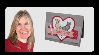 Dog & Cat Valentine's Card