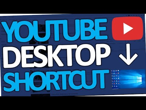 How to put a Youtube Shortcut on Desktop (Windows 10 | 2018)