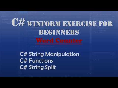 Starting Out With Visual C# - Word Counter (Intro To Visual C#) - Windows Forms
