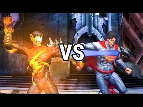 Injustice Mobile: Earth 2 Flash VS New 52 Superman Challenge