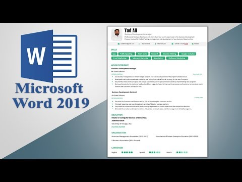 How to create a powerful Executive Resume Template in ms word 2019