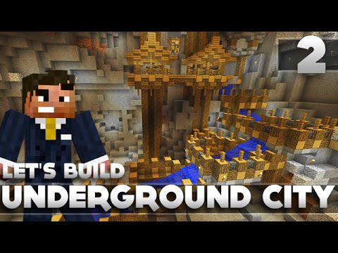 Minecraft - Advanced Underground City/Base Tutorial Let's Build Part 2 Xbox 360/PC/PS3