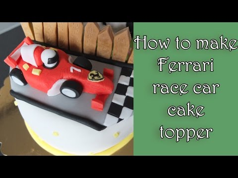 How to make a fondant ferrari racecar / Jak zrobić wyścigówkę ferrari z masy cukrowej