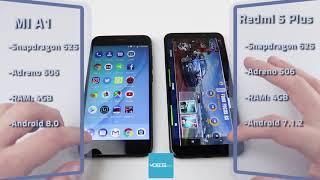 Xiaomi Mi A1 vs. Xiaomi Redmi 5 Plus Speed Test (Test brzine)