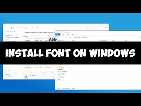 Install font on Windows 7/8/10