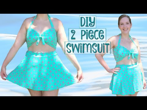 DIY 2 Piece High Waist Swimsuit – How to Sew a Retro Bathing Suit