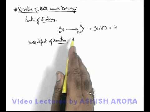 Q-Value of Beta Minus Decay (NR11A)