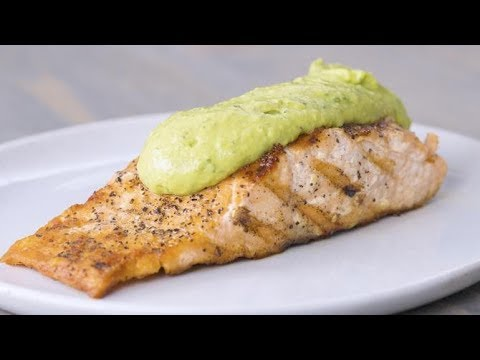 Get The Recipe  Grilled Salmon And Creamy Avocado Sauce