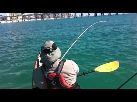 Kayak Fishing for Spanish Mackerel in Panama City Beach - Hmong Fishing on a Kayak