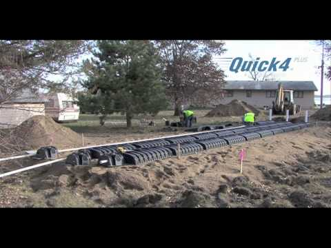 Septic Mound System Installation using Infiltrator Chambers
